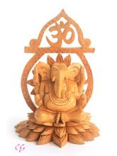 Ganesha On Lotus, 7 inches