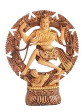 Wooden Natraj - The Dancing Shiva, 8 inches