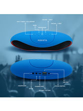 ABANTA BT 73 - Mini Rugby Portable Bluetooth Mobile / Tablet Speaker available in 5 Colours- Black / Red / Blue / White / Pink, blue