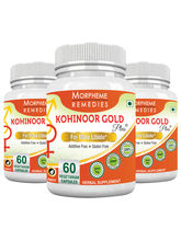 Morpheme Kohinoor Gold Plus 500mg Extracts 60 Veg Caps - 3 Bottles