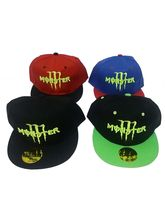 Babji Monster Hip Hop Black Green Red Cap, multicolor