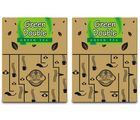 Teas of All Nations Green Tea Green Double Tulsi Flakes Pack of 2 (51035), 50 gm