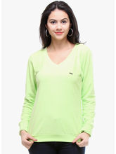 Kaxiaa Plain Full Sleeve V Neck Fleece/Knitted Sweater (K-SW-71025A), xl, green