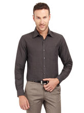 Copperline Solid Fullsleeves Slimfit Cotton Formal Shirt, m, grey