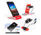 Riona Mobile holder A4L Red+ Hanger Stand+ Cable Organizer+ Scratch Guard Pads