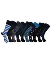Aov Men Solid Mid-Calf Length Socks Pack Of 10 Pairs (New-00020), multicolor
