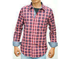 SLIM FIT 100% COTTON, xl, red blue white checks