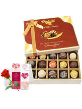 Lovely Truffles Collection With Love Card And Rose - Chocholik Belgium Chocolates