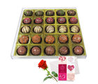 Exotic Truffle Gift Box With Love Card And Rose - Chocholik Belgium Chocolates