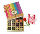 Moment Of Surprise Truffles Collection With Love Card And Rose - Chocholik Belgium Chocolates
