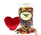 Elegant Cocktail Party Dry Fruits 500 Gm With Heart Pillow - Chocholik Premium Gifts