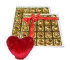 Romantic Chocolate Collection With Heart Pillow - Chocholik Luxury Chocolates