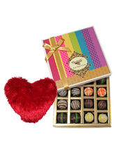 Luscious Taste Truffles Collection With Heart Pillow - Chocholik Belgium Chocolates