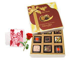Everlasting Chocolate Collection With Love Card And Rose - Chocholik Luxury Chocolates