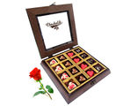Love Heart Chocolates With Red Rose - Chocholik Belgium Chocolates