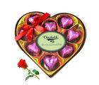 Nicely Wrapped Chocolate Box With Red Rose - Chocholik Luxury Chocolates