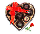 Seasonal Tasty Love Treats With Red Rose - Chocholik Belgium Chocolates