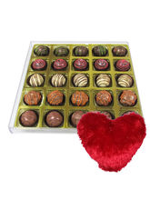 Pretty Good Truffle Gift Box With Heart Pillow - Chocholik Belgium Chocolates