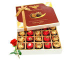Decadent Collection Of Wrapped Chocolate Box With Red Rose - Chocholik Belgium Chocolates