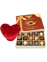 Prestige Truffles Collection With Heart Pillow - Chocholik Belgium Chocolates