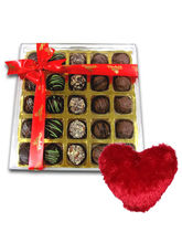 Temptation Chocolates Box With Heart Pillow - Chocholik Belgium Chocolates