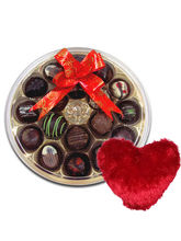 Grand Collection Of Chocolates With Heart Pillow - Chocholik Belgium Chocolates
