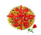 Best Wrapped Choco Platter With Red Rose - Chocholik Luxury Chocolates