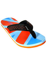Levitate Men Slipper LVTFF3022, skyblue orange, 10