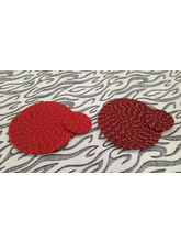 Welhouse India Round Placemat with Coaster - Pack of 2 (C2_ TP_ R-06)
