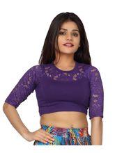 Carrel Cotton Women Fancy Blouse (AGSPL_ 3228), l, purple