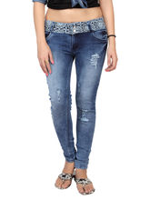 Carrel Casual Denim Women Jeans, blue, 30