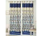 Homesazz Printed Door Curtains(Set of 2) (DS061), blue