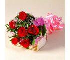 Giftacrossindia Six Red Roses Love You Bouquet (GAIMPHD0061), 1000 gms