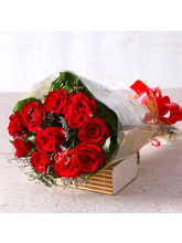 Giftacrossindia 10 Red Roses Bouquet (GAIMPHD0070)...