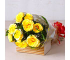 Giftacrossindia Bright Yellow Roses Bunch (GAIMPHD0068), 1000 gms