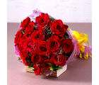 Giftacrossindia Bouquet of 18 Red Roses (GAIMPHD0076), 1000 gms