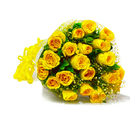 Giftacrossindia Bouquet of Twenty Yellow Roses (GAIMPHD0007), 1000 gms