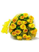 Giftacrossindia Bouquet of Twenty Yellow Roses (GAIMPHD0007), 1000 gms