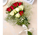 Giftacrossindia Red and Yellow Roses Bouquet (GAIMPHD0069), 1000 gms