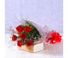 Giftacrossindia Six Romantic Red Roses Bouquet (GAIMPHD0019), 1000 gms