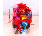 Giftacrossindia Truffle with Home Made Chocolate Basket Pouch (GAICOU0056), 500 gms