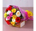 Giftacrossindia Fifteen Mix Roses Bouquet (GAIMPHD0077), 1000 gms