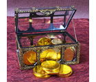 Giftacrossindia Gold Coin Chocolates Treasure Box (GAICOU0005), 500 gms