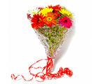 Giftacrossindia Ten Colorful Gerberas Bouquet (GAIMPHD0058), 1000 gms