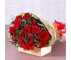 Giftacrossindia Fifteen Red Roses Bouquet (GAIMPHD0074), 1000 gms