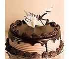 Giftacrossindia Dark Chocolate Delight Cake (GAICAK0015), 1000 gms