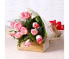Giftacrossindia Soft Pink Roses Bunch (GAIMPHD0067), 1000 gms