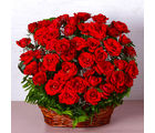 Giftacrossindia Basket of Fifty Red Roses (GAIMPHD0090), 1000 gms