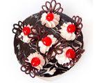 Giftacrossindia Round Black Forest Cake (GAICAK0044), 1000 gms