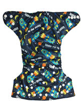 Soft Baby Reusable Adjustable Cloth Diaper (ESCD_ Rocket), multicolor